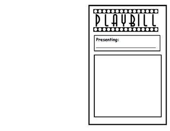 Readers Theater PlayBill Template | Readers Theater | Pinterest ...