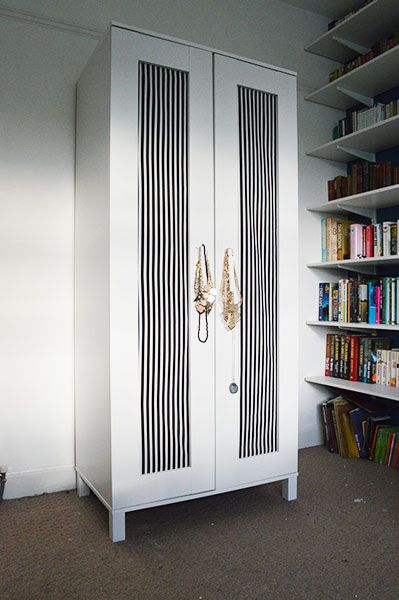 DIY Upcycling An Ikea Wardrobe with Fabric - Oh Hi DIY | Home design ...