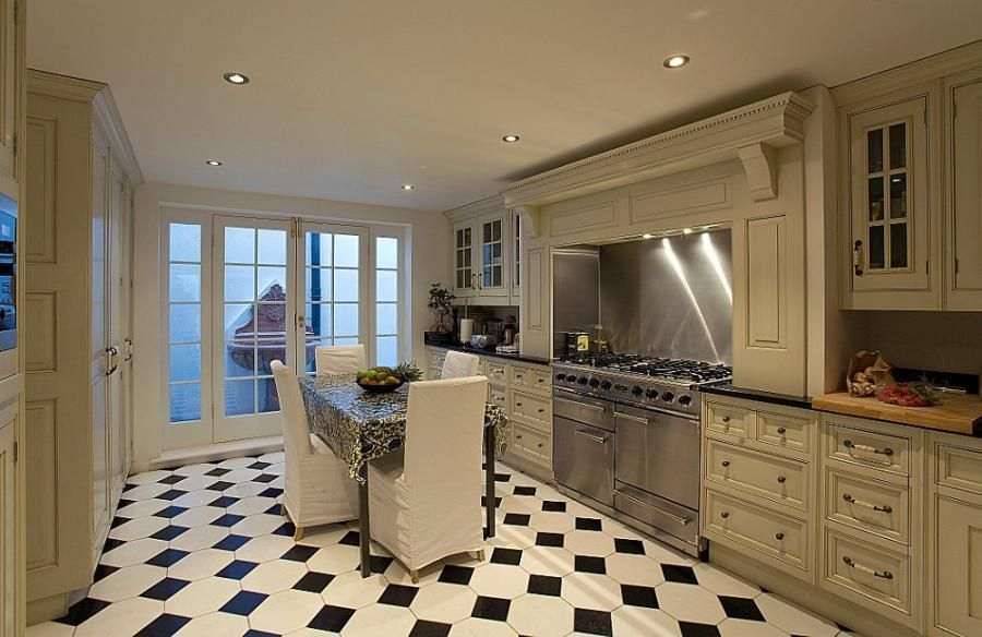 Black White Tile Kitchen Floor Renovation Ideas