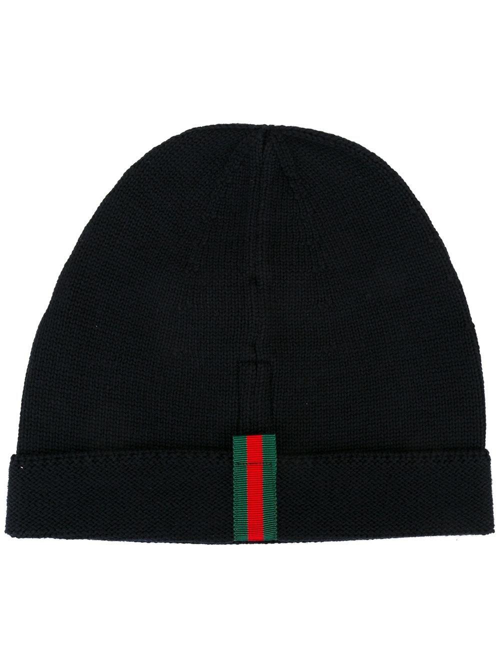 67a4d23d4 Gucci striped detailing beanie | hats | Gucci hat, Gucci beanie ...