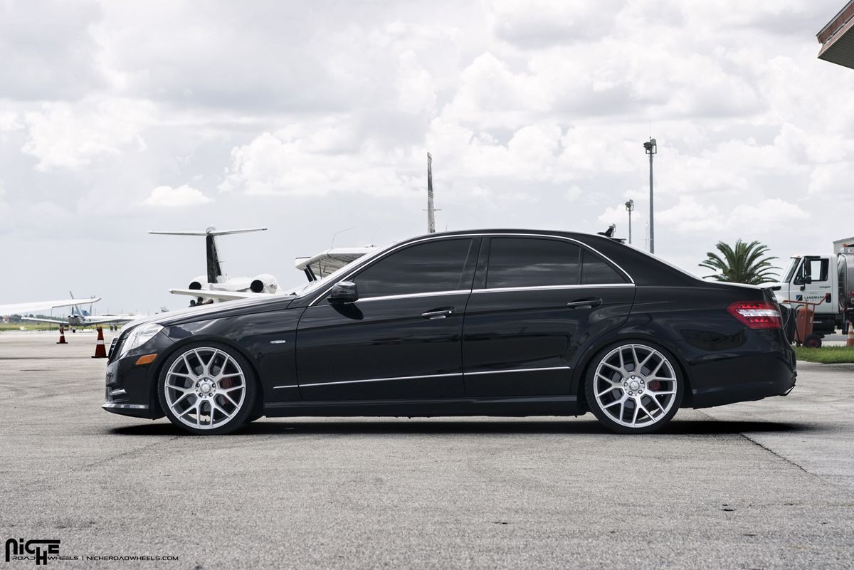 This Black Mercedes Benz E350 Was Given A New Set Of Niche Intake