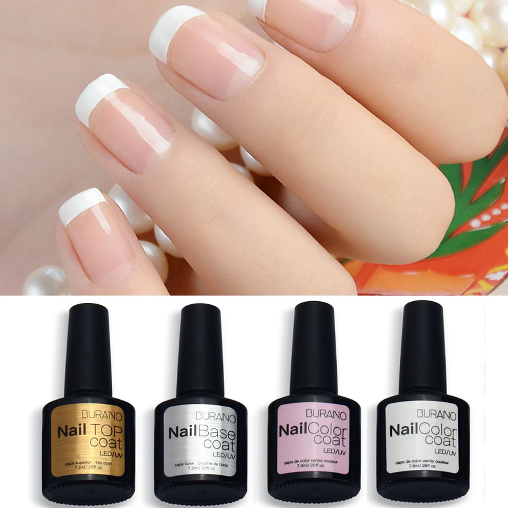 burano 7.3ml uv led soak off gel nail polish french manicure polish ...