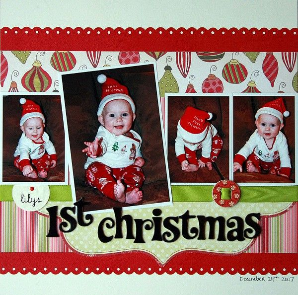 1st christmas layout using jillibean papers you know NEXT year! grrr