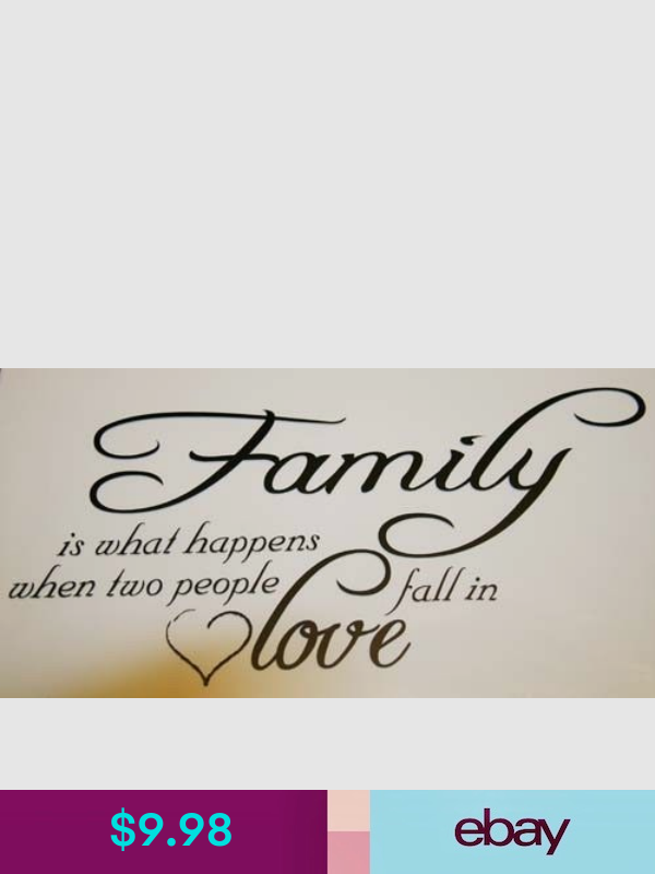 Decorative Decals Ebay Home Garden Family Quotes Vinyl Wall Quotes Love Phrases