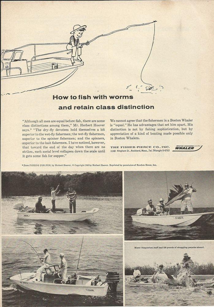 1964 Fisher- Pierce Company Ad- The Boston Whaler Boats
