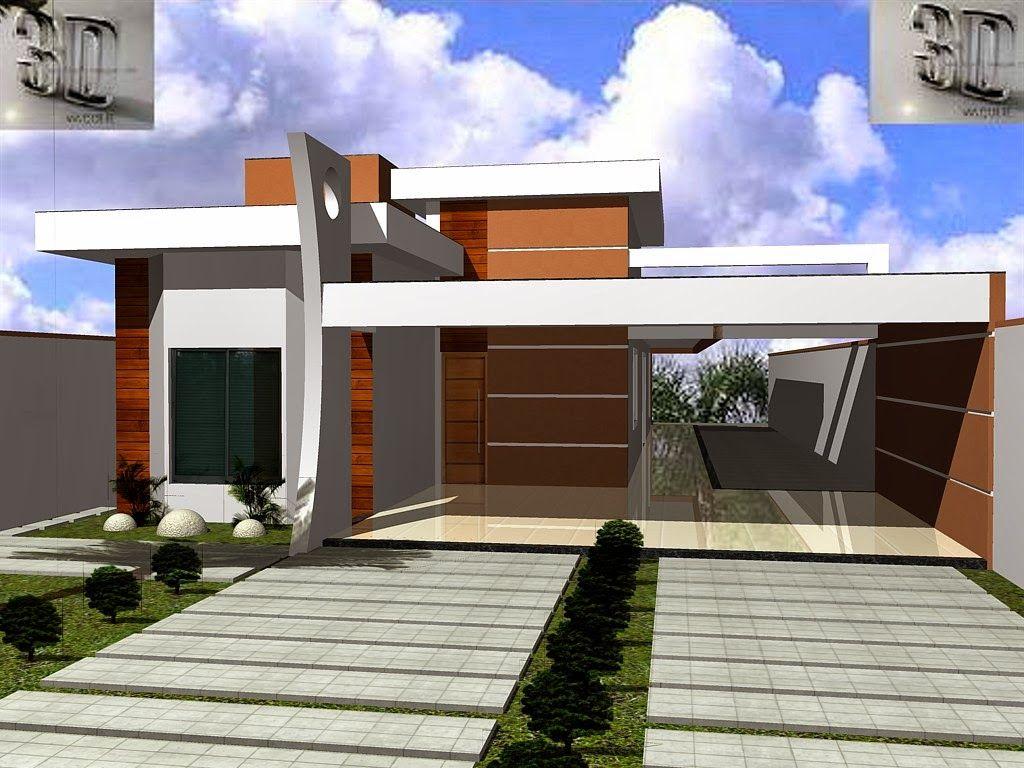 Fachadas de casas modernas 2014 fotos for Fachadas de casas modernas