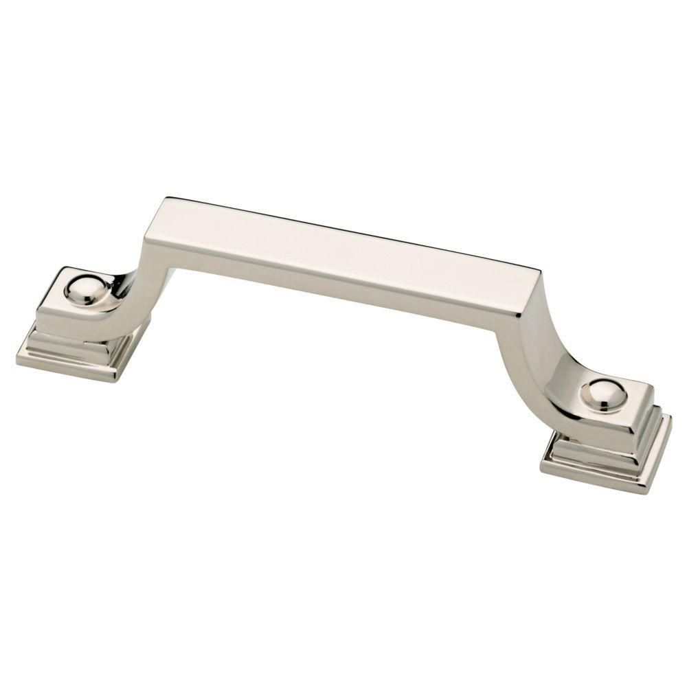 (76mm) Polished Nickel Elegant Cabinet Pull