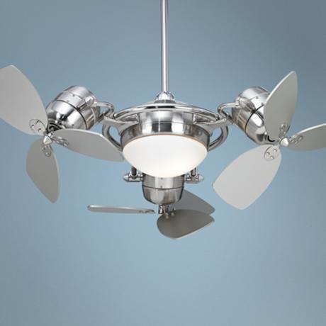 possini euro fx3 ceiling fan with silver blades - Possini Euro Design