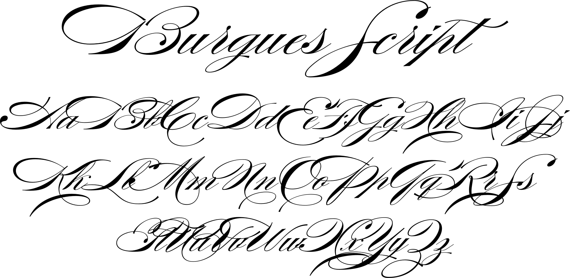 Burgues Script Is An Ode To The Late 19th Century American