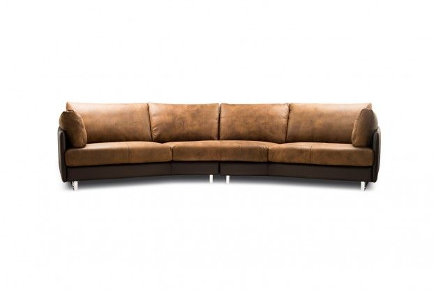 Swing Sofa By Gamma International Is The Ultimate Section Of Modern Luxurious Leather Sofas It S Stitching Accen Sofa Italian Furniture Design Ergonomic Chair