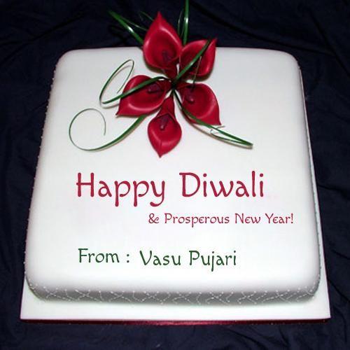 Write Name on Happy Diwali and Prosperous New Year Cake | jyostna ...