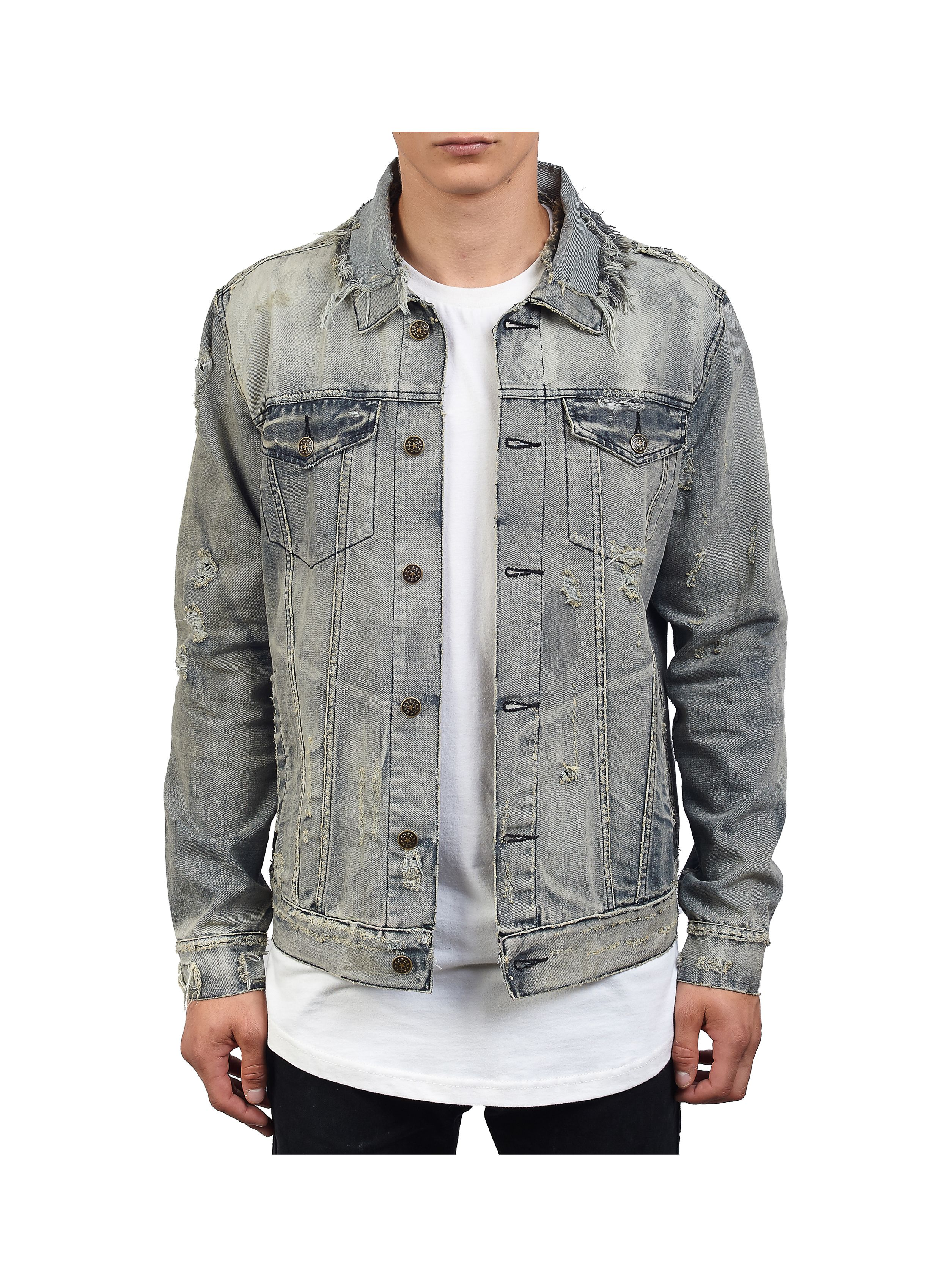 Men S Silver Jewellery Silver Rings Necklaces Denim Jacket Men Denim Jacket Distressed Denim Jacket [ 3396 x 2462 Pixel ]