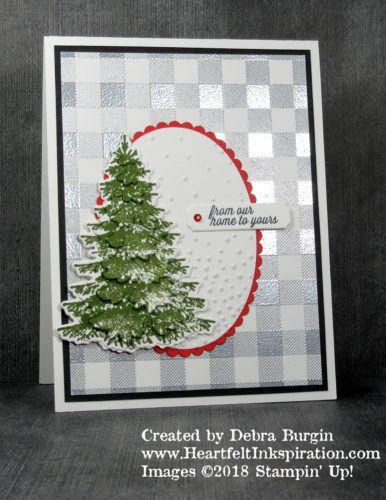 Heartfelt Inkspiration Christmas Card Design Stampin Up Christmas Cards Christmas Tree Cards