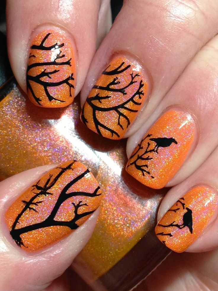 Smitten Safety Dance with Crows (Canadian Nail Fanatic ...
