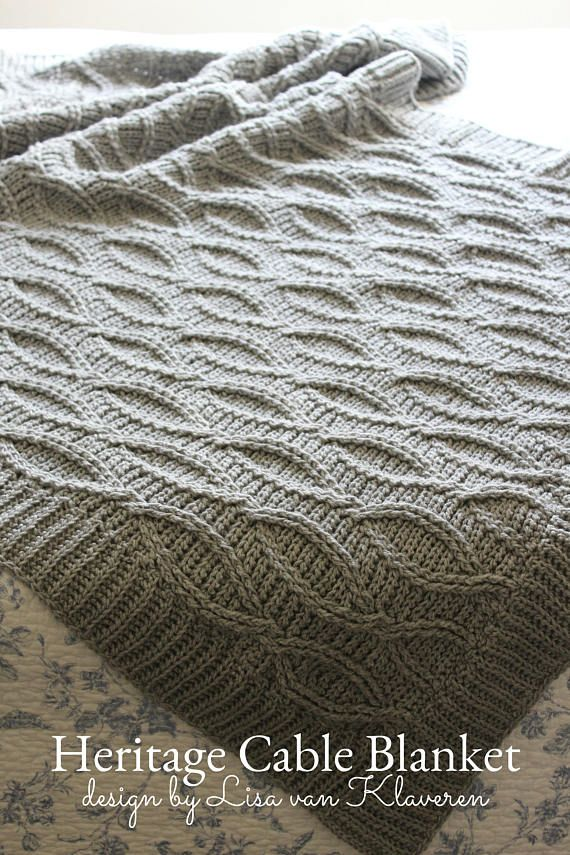 Download Now Crochet Pattern Heritage Cable Blanket Make To Any