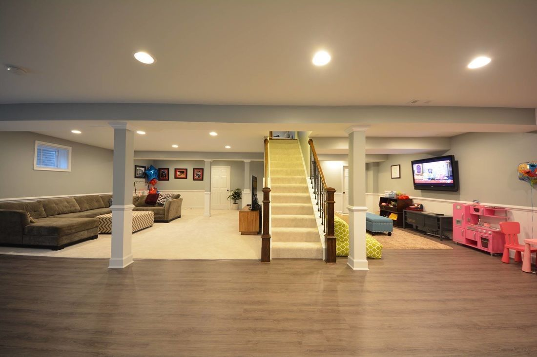 Luxury Flooring In A Basement