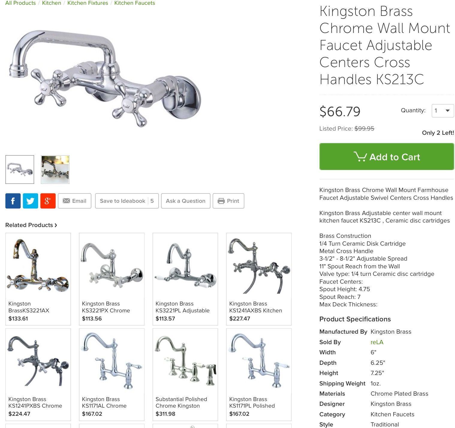 Pin By K8erz On Cucina Wall Mount Faucet Kitchen Faucet