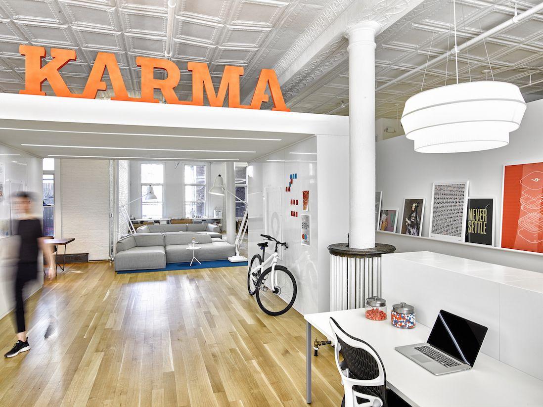 a tour of karma s modern nyc headquarters karma office spaces and