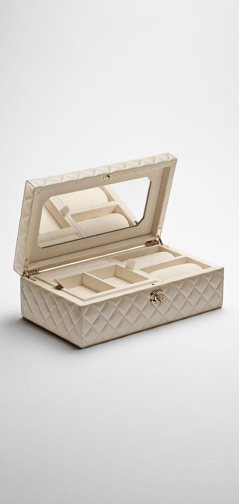 Lambskin Jewelry Box Chanel Jewelry Organizer Box Small Jewelry Box Luxury Jewelry