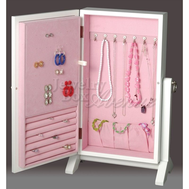White Girls Wall Mount Standing Jewelry Box only 9995 plus