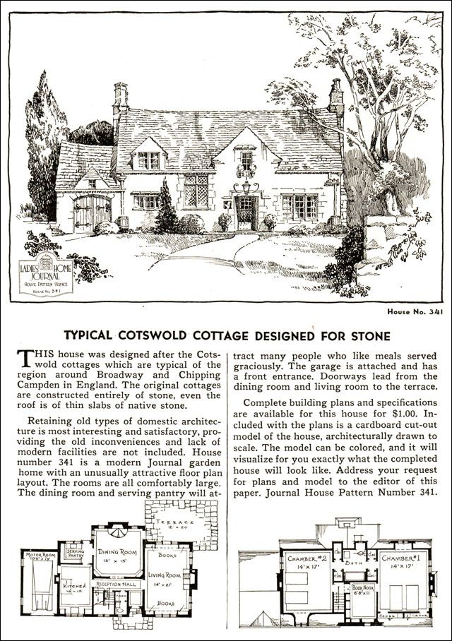 1935 English Cotswold Style Cottage La s Home Journal American Residential Architecture