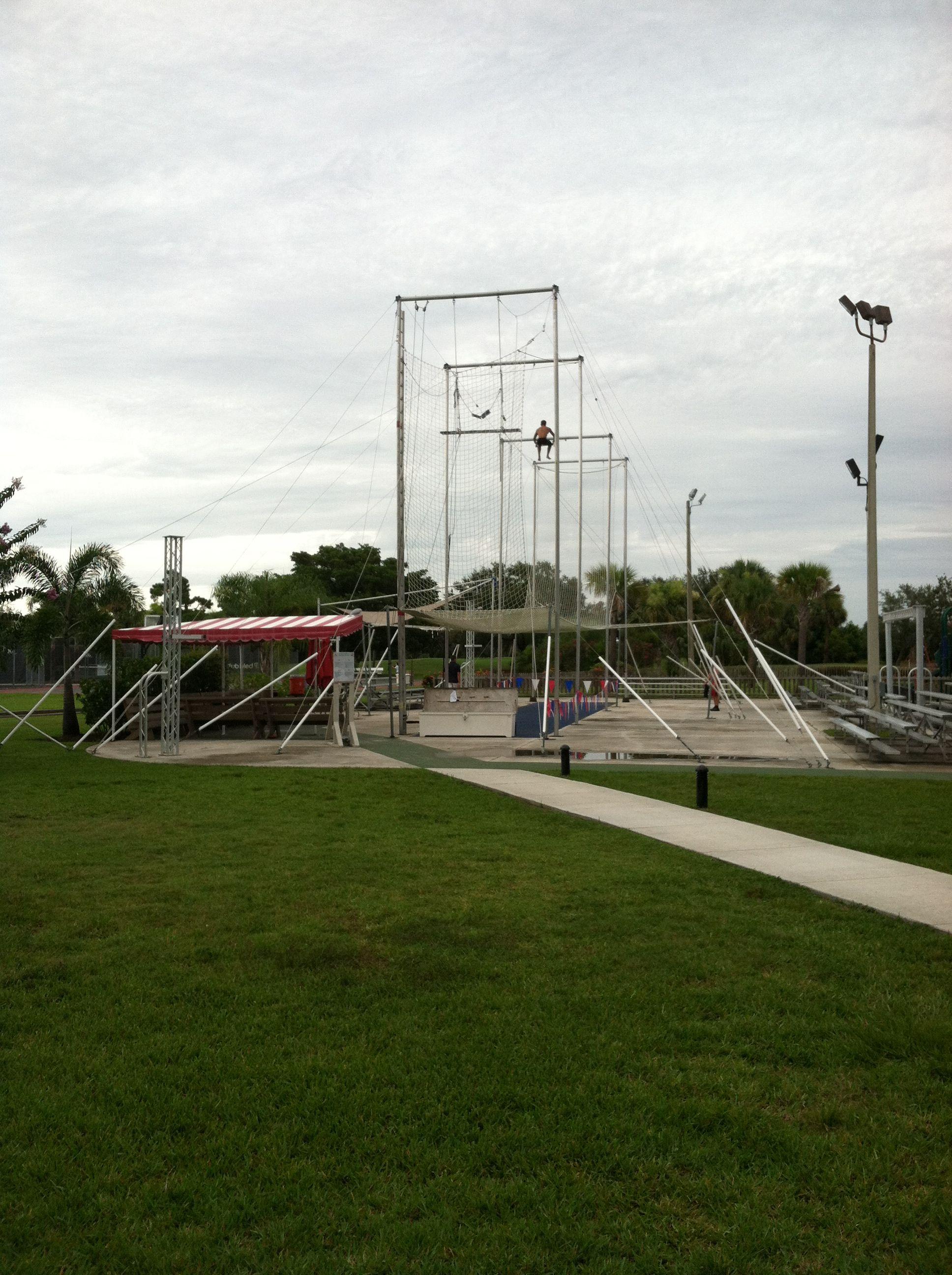 Flying trapeze school club med sandpiper bay all