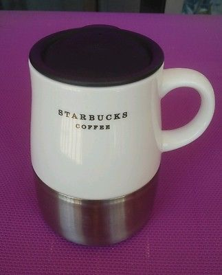 This Starbucks stainless steel chubby mug messages all