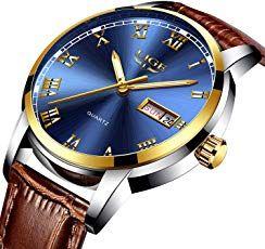 99ee92d59891 Relojes masculinos moda simple Leahter cuarzo reloj de moda casual de lujo  reloj de pulsera de