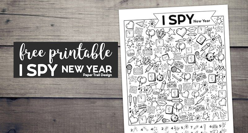 Free Printable New Year I Spy Activity   Paper trail ...