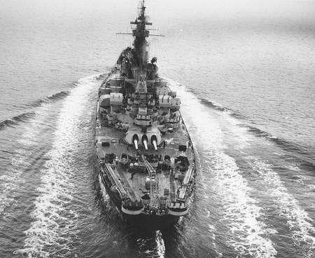 USS Alabama - battleship, uss, alabama, ocean, war, battle ...