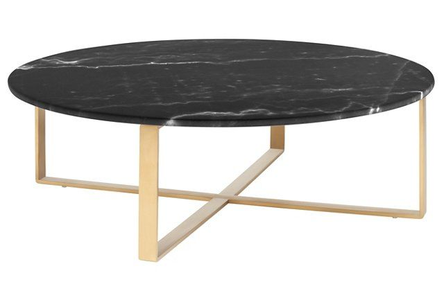 38 Rosa Coffee Table Black Gold Black Marble Coffee Table