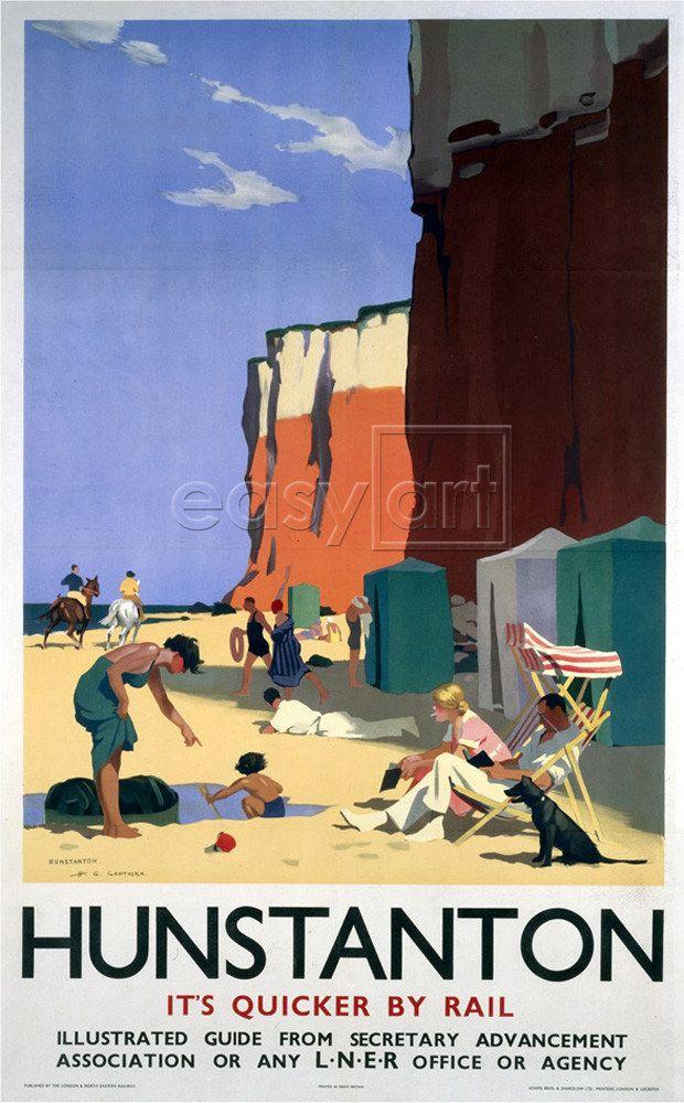 Cromer 3 Gem Of The Norfolk Coast Coastal Town Seaside Vintage Railway Poster