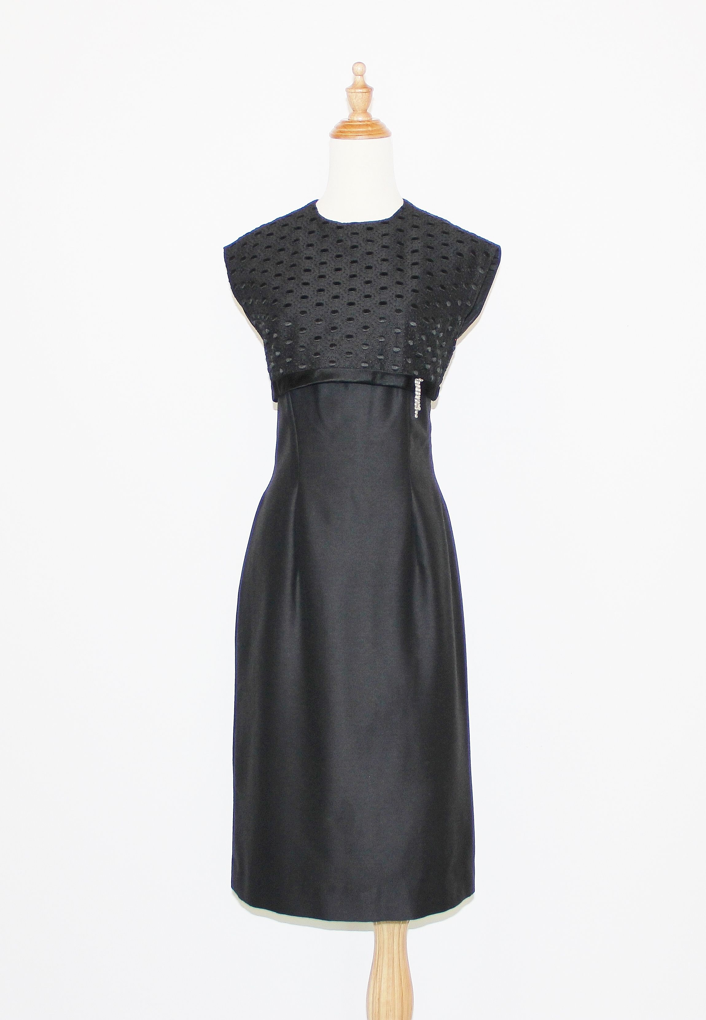 1960s Black Silk Alaskine Cocktail Dress With Embroidered Bust Overlay Trending Outfits Cocktail Dress Fashion [ 3320 x 2299 Pixel ]