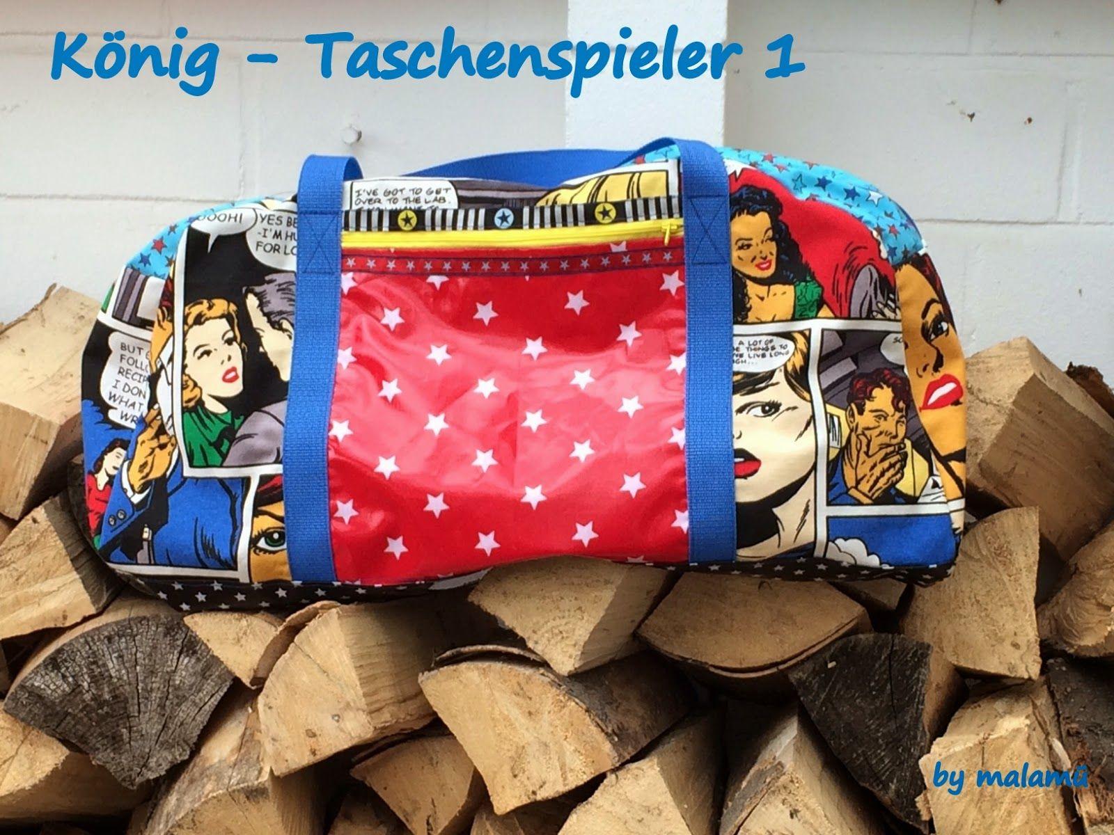 König, Taschenspieler 1, selbstgenäht, Reisetasche, by malamü