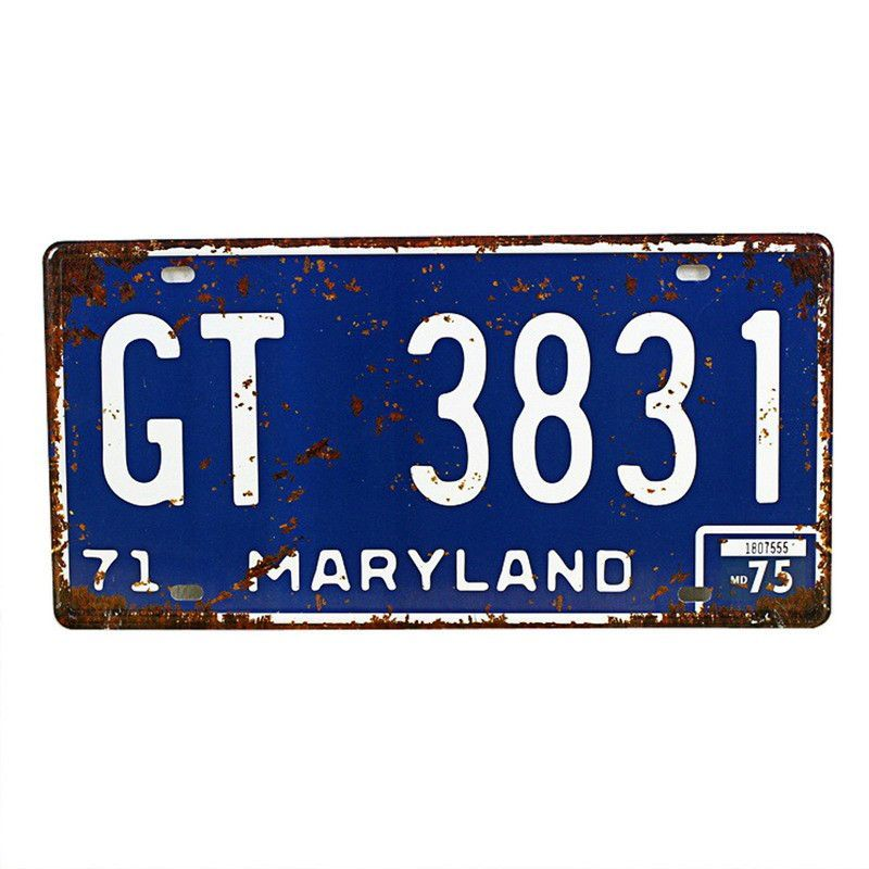 U.S. License Plates Wall Decoration (16 State variations)