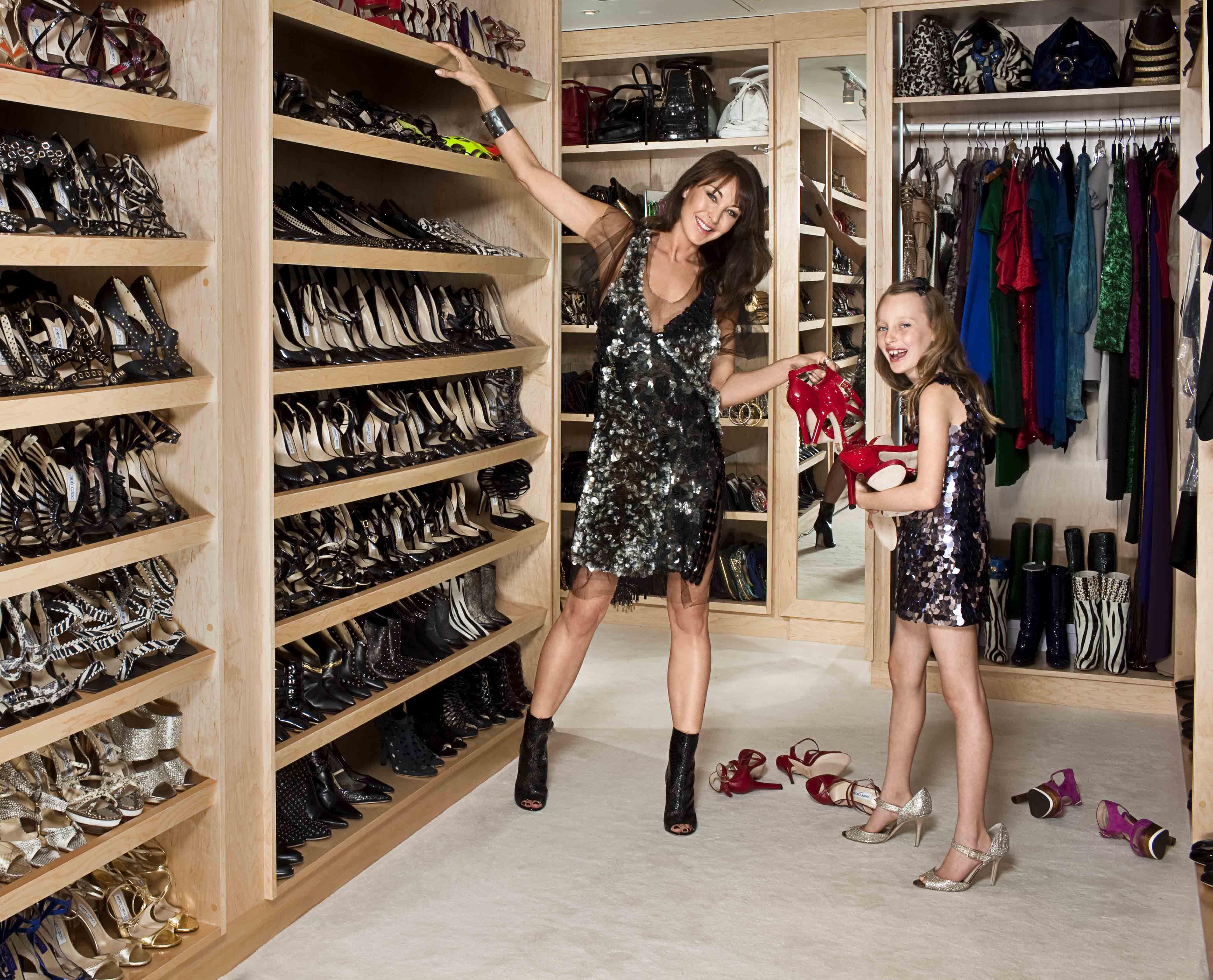 closet, Celebrity closets, Shoe closet