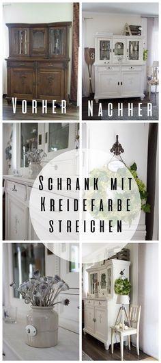 Wohnzimmer Schrank mit Kreidefarbe gestrichen DIY Pinterest - design mobel wohnzimmerschrank