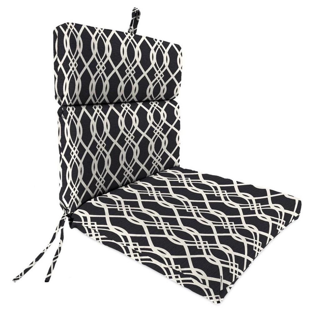 Jordan french edge dining chair cushion hedda tuxedo dining