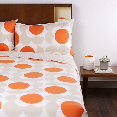 Buy Orla Kiely Giant Flower Spot Bedding John Lewis Orange Duvet Covers Luxury Homewares Duvet Covers