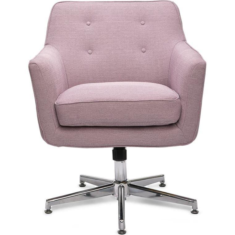 purple desk chair with wheels