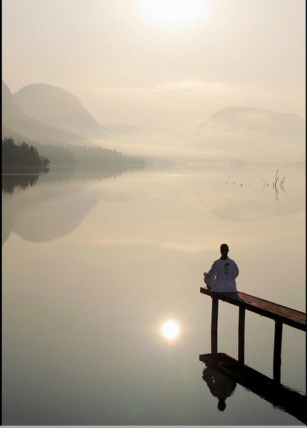 Morning stillness...