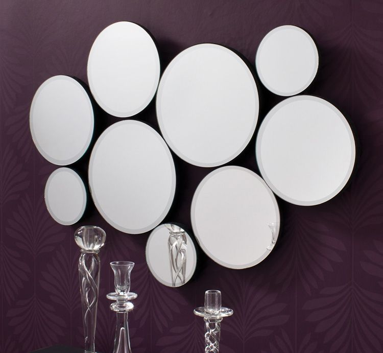 Modern Free Form Wall Mirror With Multiple Circles Decoration Interieure Decoration Interieur