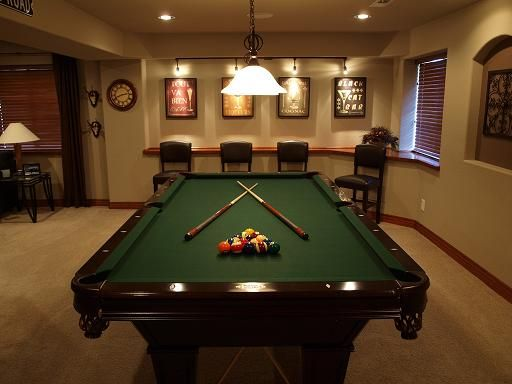 Pool table room colorado basement finishing experts for Pool table room design