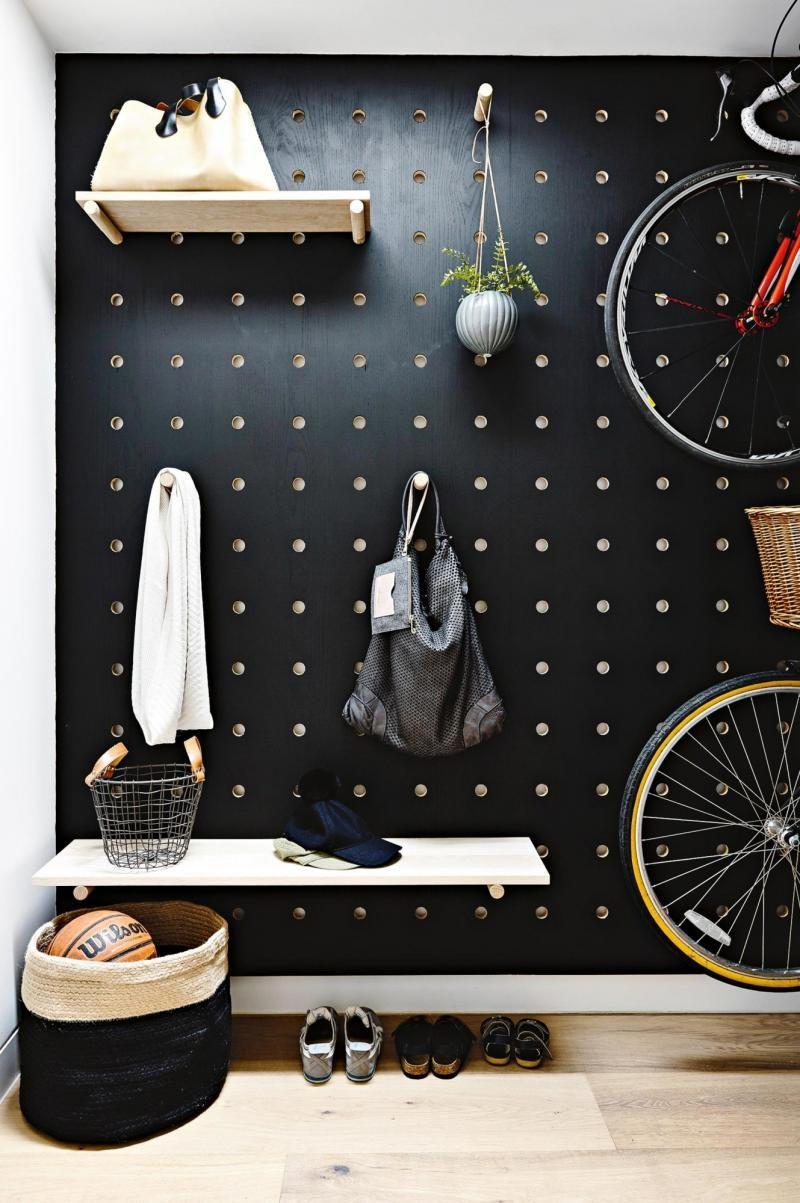 Hallway wall storage  wallpegsstorage  Hallway  Pinterest  Storage Walls and Interiors