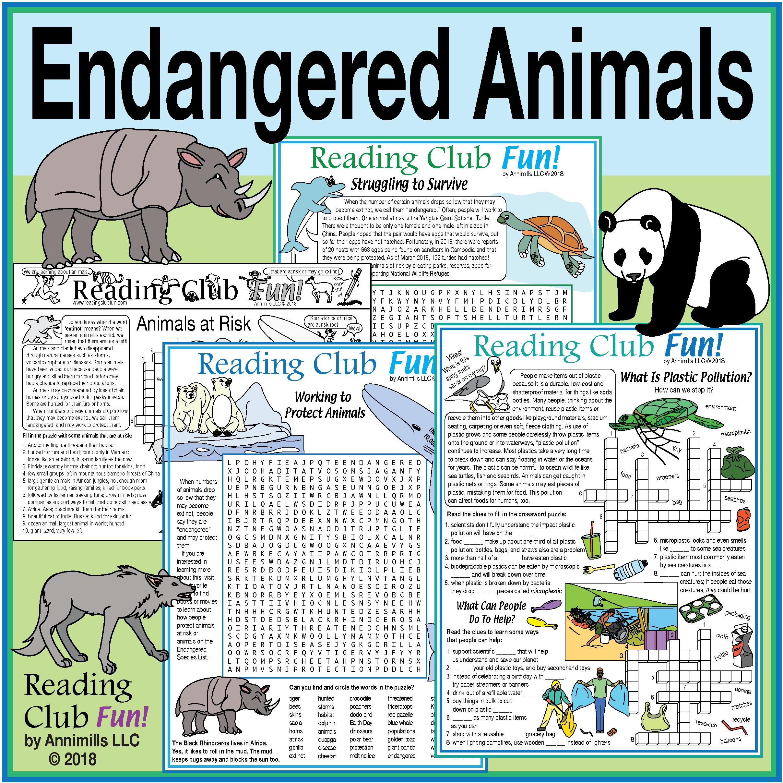 Endangered Animals Set Earth Day