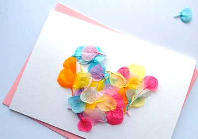 Tissue Paper Petal Cards Homemade Mother S Day Card With Images