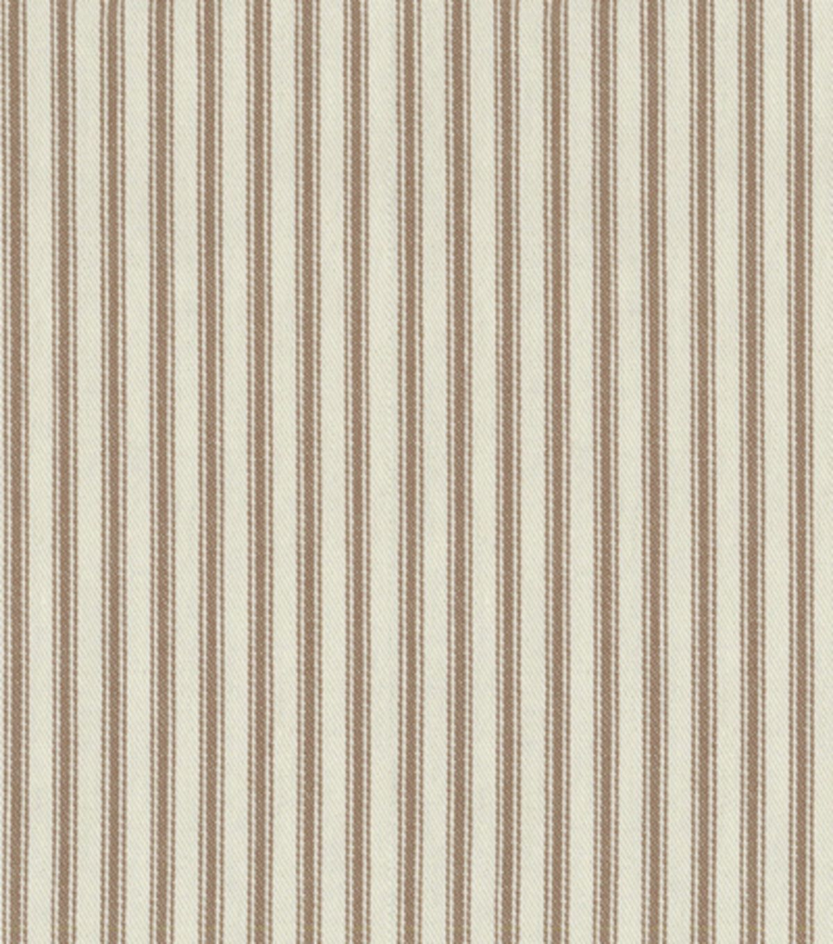 Waverly upholstery fabric classic ticking chocolate for Ticking fabric