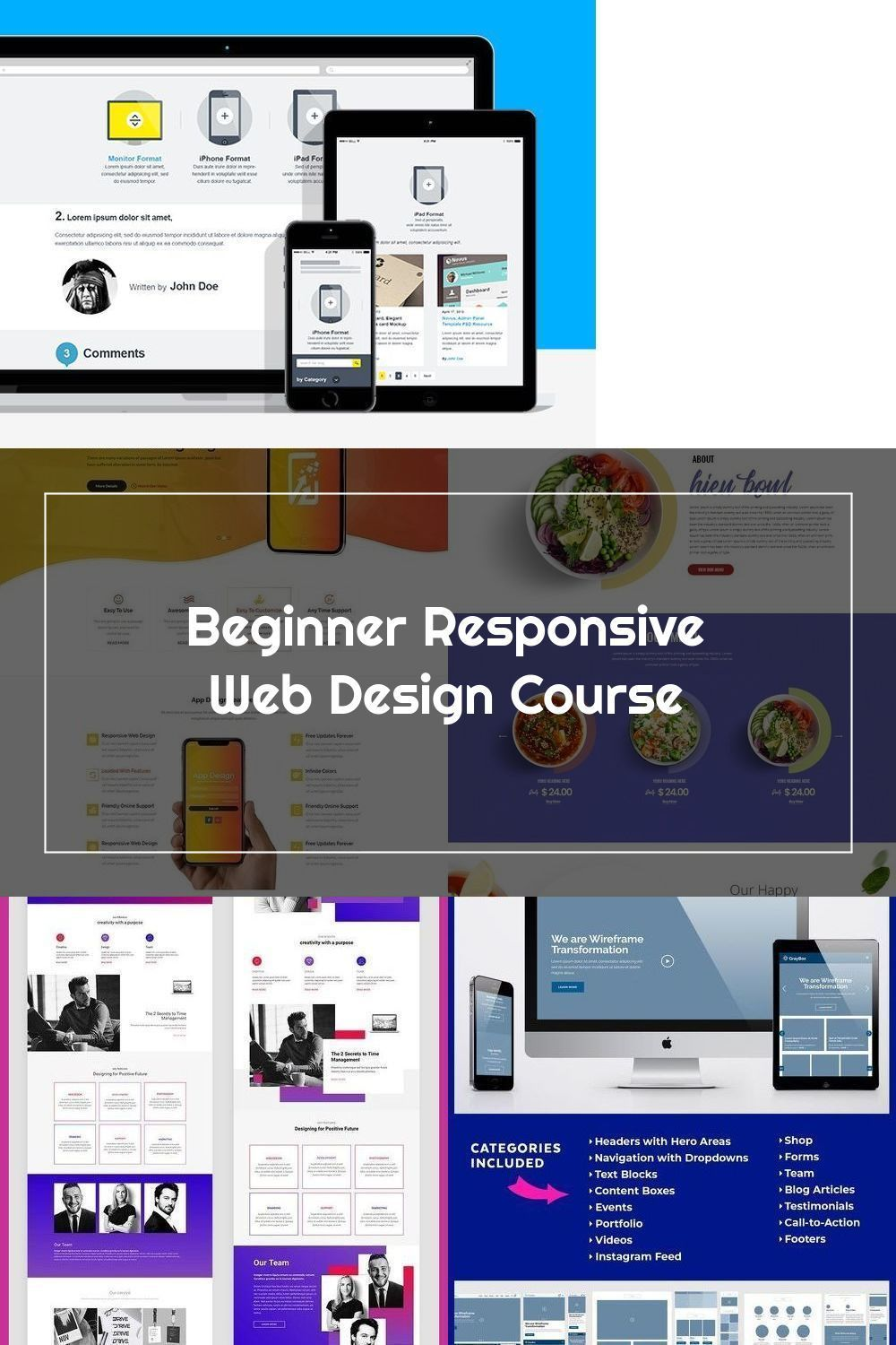Introductory Responsive Web Development Course Complete Projects To Learn Html5 Css3 And In 2020 Web Development Course Responsive Web Web Design Course