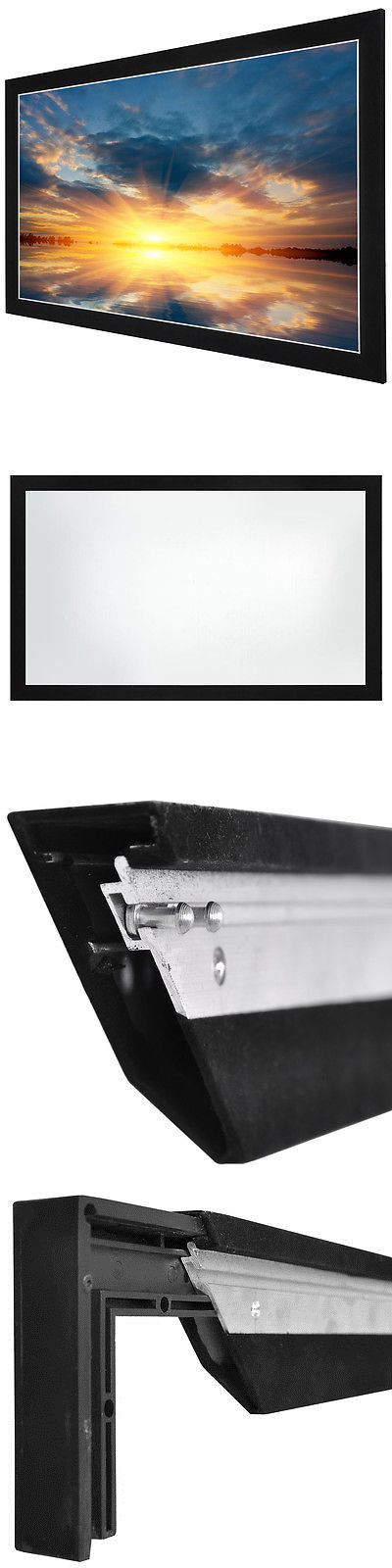 Projection Screens and Material: 84 16:9 Hd Aluminum Fixed Frame ...