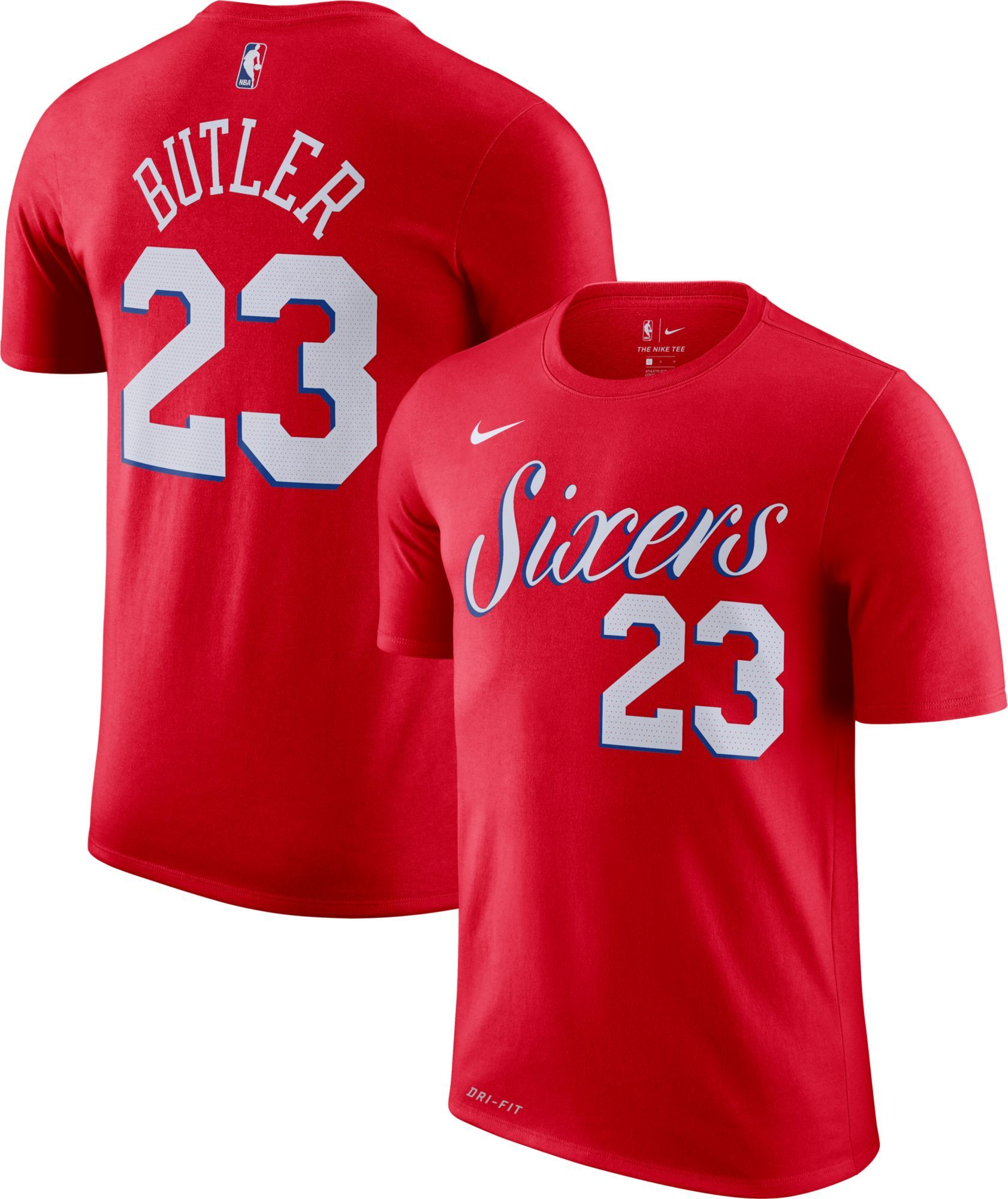 save off fa202 979b6 Nike Men's Philadelphia 76ers Jimmy Butler #23 Dri-FIT Red T ...